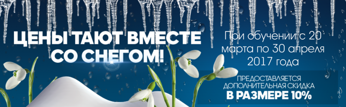 "Акция ""Цены тают вместе со снегом"""